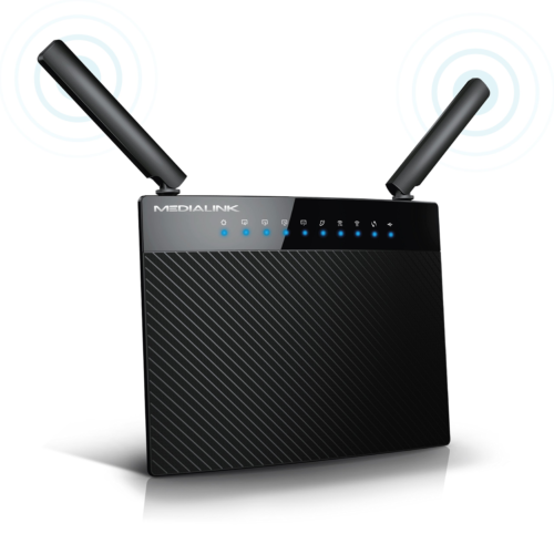 Medialink AC1200 Wireless Gigabit Router - Gigabit  Wired Sp