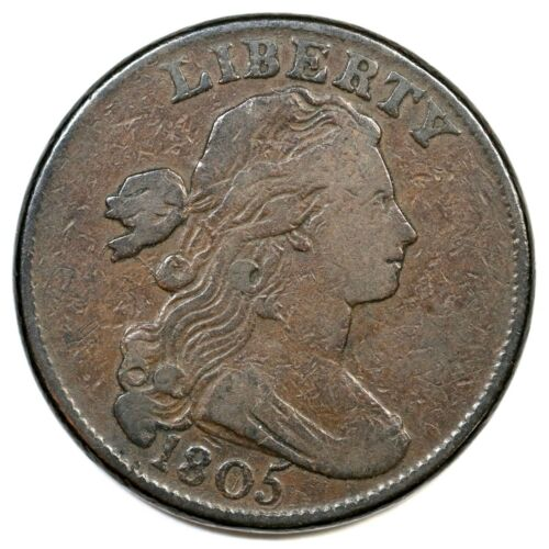 1805 S-267 Blunt 1 Draped Bust Large Cent Coin 1c