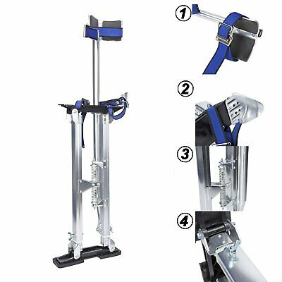 24-40 Inch Silver Drywall Stilts Aluminum Tool Stilt Portabl For Painter Walking