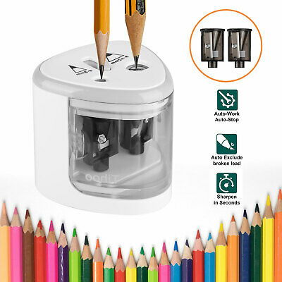 Automatic Electric Pencil Sharpener Touch Switch School Office Classroom For Kid