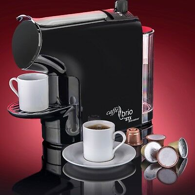Espresso Coffee Maker Machine Caffè Brio - VTC Dispenser & Liveliness Saver Eco-Mode