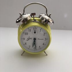 Sternreiter Double Bell Mechanical Wind Alarm Clock  Yellow