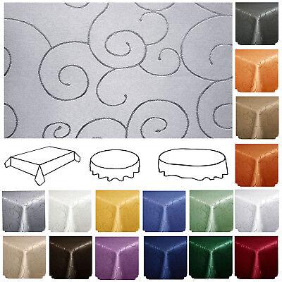 tischdecke ornamente ranken eckig oval rund. Black Bedroom Furniture Sets. Home Design Ideas