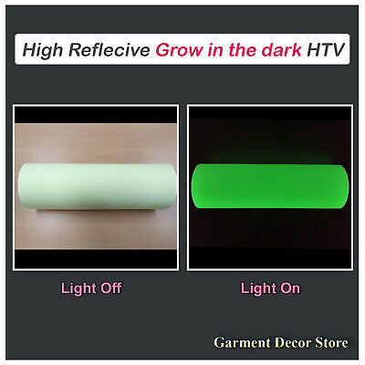 Glow In The Dark Reflective Htv Heat Press Iron-on Cutting Vinyl 20x1yard