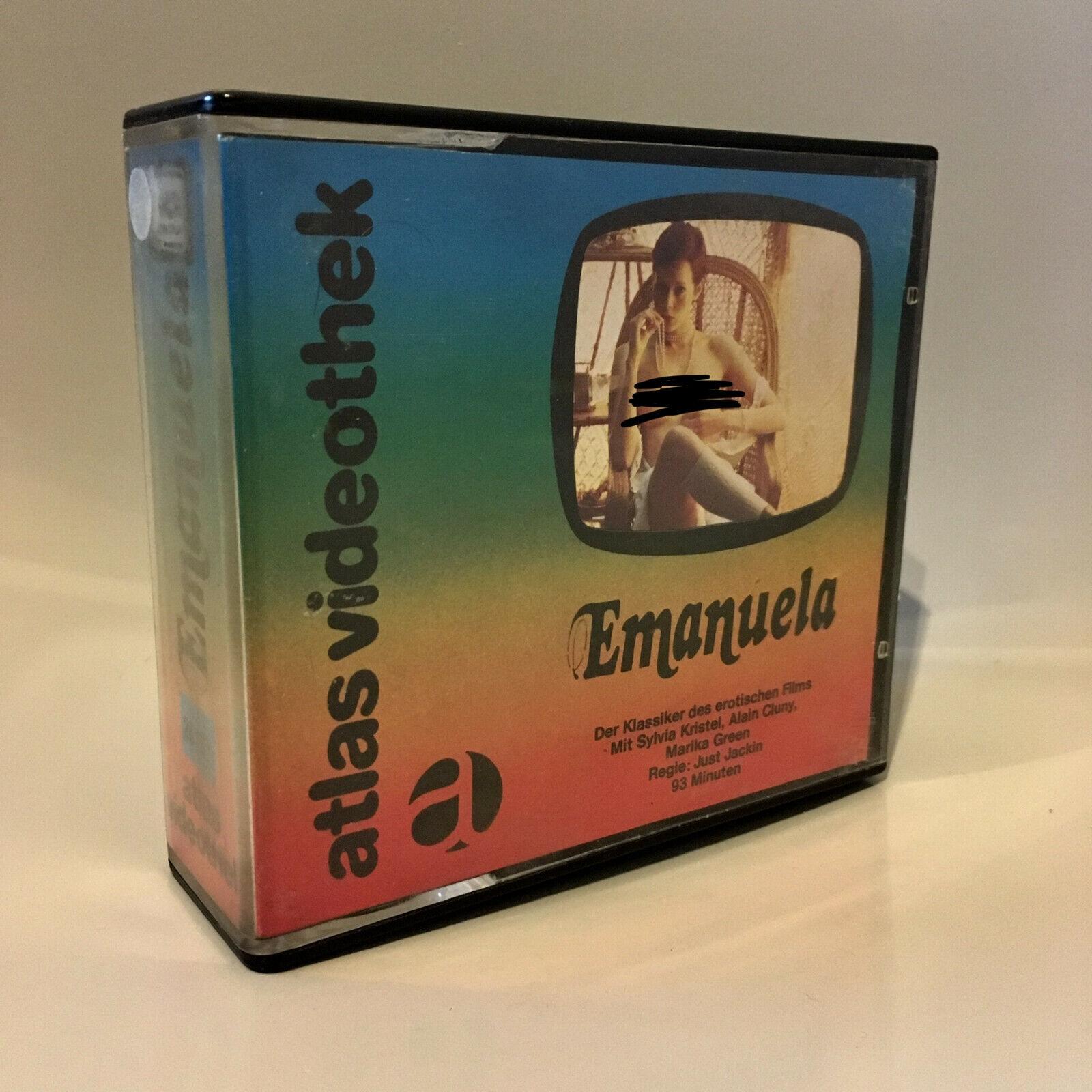 1978 VIDEO MUSEUM RARITY: Emanuela VCR LONGPLAY Glasbox Sylvia Kristel PRE-CERT