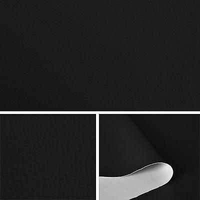 Kunstleder - schwarz -  Leder Meterware PVC 140cm breit
