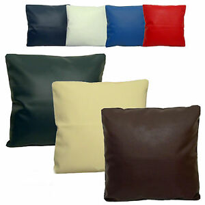 faux leather cushion covers zipped 16 18 20 22 24 ebay. Black Bedroom Furniture Sets. Home Design Ideas