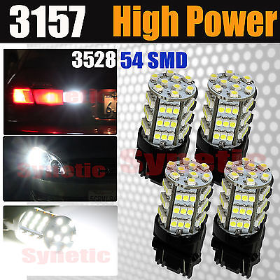 4x 31575702A Reverse Backup Lights Xenon 6000K White 54 SMD 3528 Chip LED Bulbs