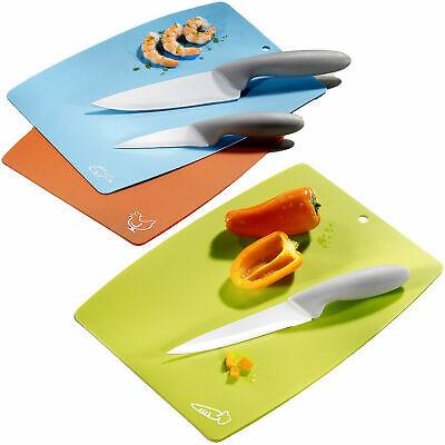 6 tlg Koch Küchen Keramik Messerset Schneidebretter Messer Allzweck Schälmesser ()