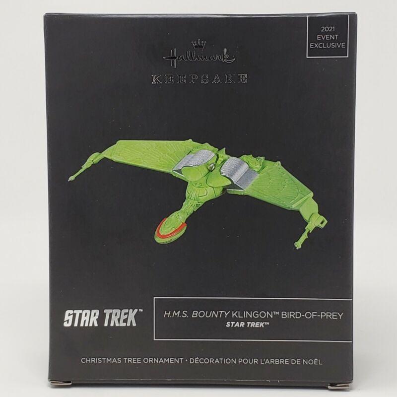 Hallmark Keepsake Star Trek Bounty Klingon Bird of Prey Ornament SDCC NYCC 2021