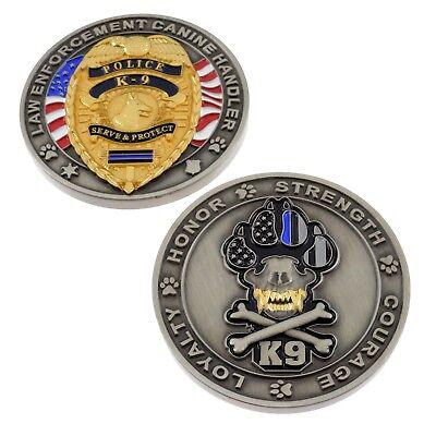 Police Officer K9 Canine Challenge Coin Working Dog Handler Law Enforcement  for sale  Champlain