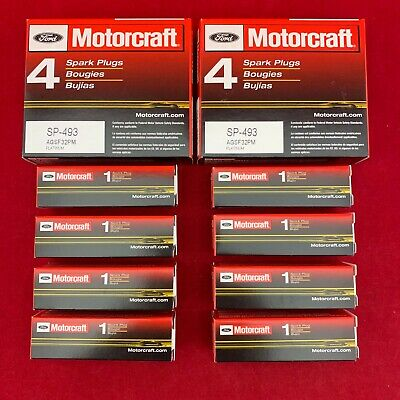 Set of 8: Genuine Ford Motorcraft Platinum Spark Plugs SP-493 AGSF32PM Free Ship