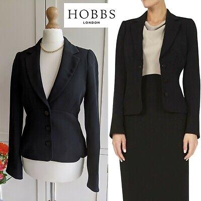 HOBBS BLACK CLASSIC TAILORED BLAZER MARI SMART JACKET NEW WITHOUT TAGS UK 8 Classic Tailored Blazer