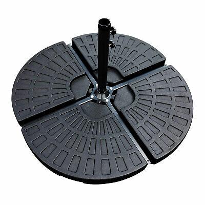 4PCs Black Garden Patio Cantilever Umbrella Banana Parasol Base Weights Stand UK