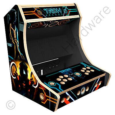 "BitCade 2 Player 19"" Bartop Arcade Cabinet Machine with Tron Artwork"