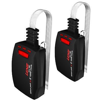 2 Pack 1200 Ersatz (Lenz Ersatz Akku Pack rcB1200 Einlegesohlen 2 Set Lithium Aufladbar Bluetooth)