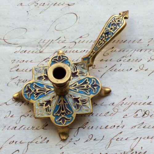 Candleholder Miniature Bronze And Enamel Partitioned Xixè Jeux Doll