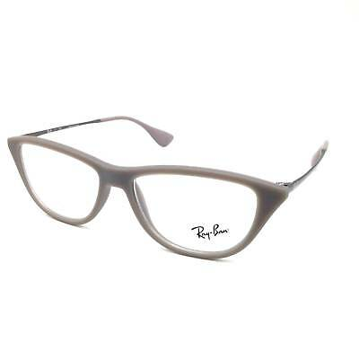 $250 RAY BAN WOMENS BROWN EYEGLASSES CLEAR EYE LENS FRAMES GLASSES RB 7042