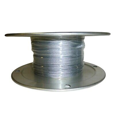Close Out Sale 116 Galvanized Aircraft Cable 7 X 7 Rigging Rope Fence Wire