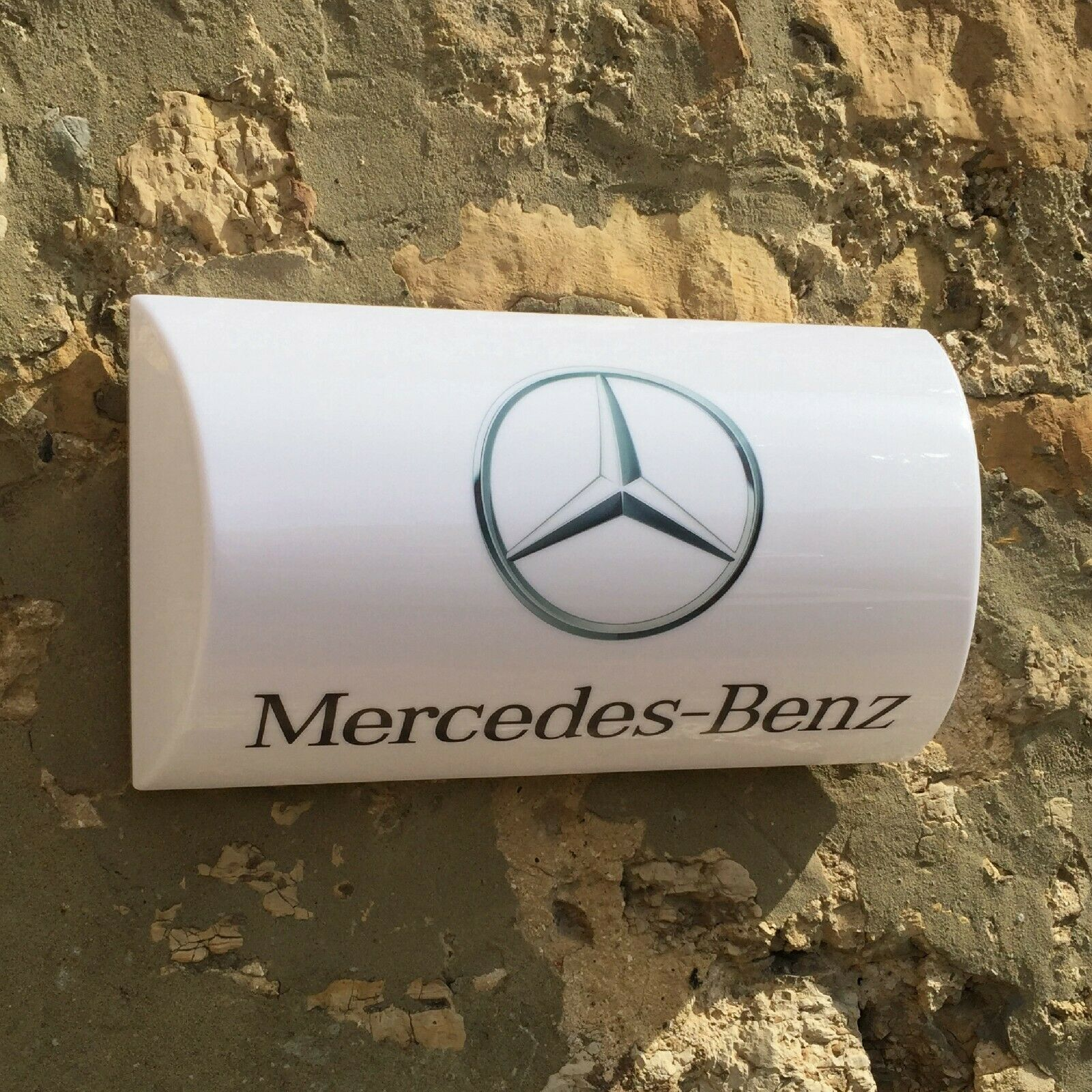 MERCEDES BENZ LED ILLUMINATED LIGHT UP GARAGE SIGN PETROL GASOLINE GAS OIL CAR