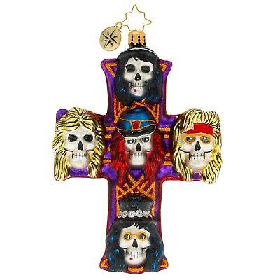 [NEW Christopher Radko GUNS-N-ROSES ROCKIN' CHRISTMAS Christmas Ornament 1020074</Title]