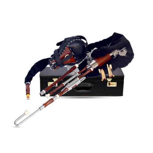 Irish Uilleann pipe Half set Seasoned Rosewood Chanter,Drone bellow Velvet bag