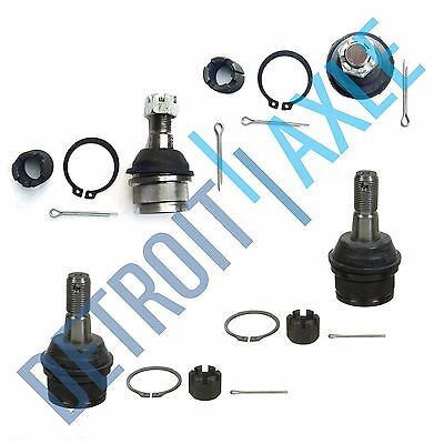 New All 4 Front Upper  Lower Ball Joints for Dodge Ram 1500 4WD   4x4 ONLY