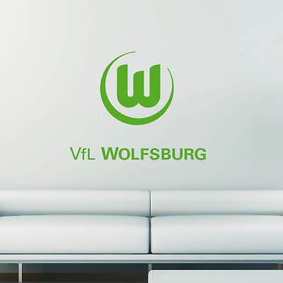 Wandtattoo VfL Wolfsburg Logo 2 grün Wandaufkleber Wandfolie Klebebild Wanddeko
