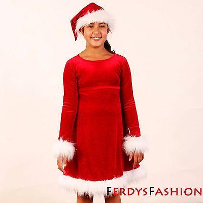 Weihnachtsgeschenk NEU ! Weihnachtskostüm Weihnachtskleid Mädchenkleid - Weihnachts Geschenk Kostüm