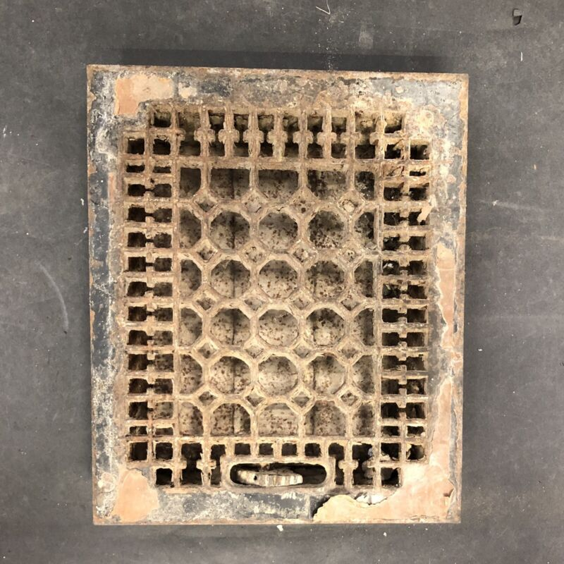 Antique Cast Iron Honeycomb Floor Grate Vent