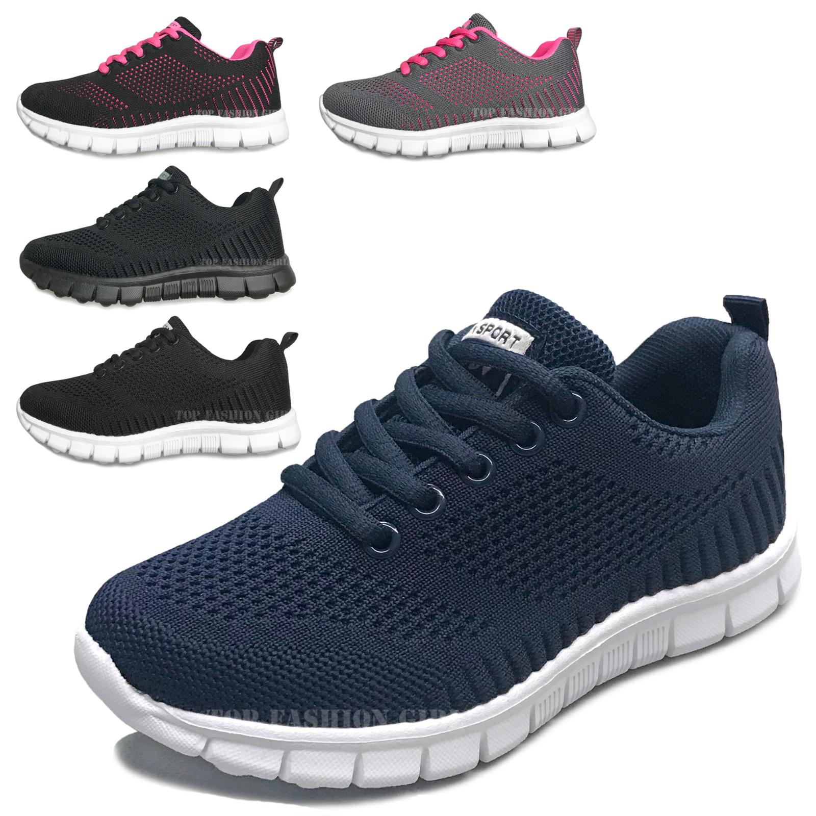 NEW Kids Sneakers Boys Girls Mesh Lace Up Sporty Tennis Shoe