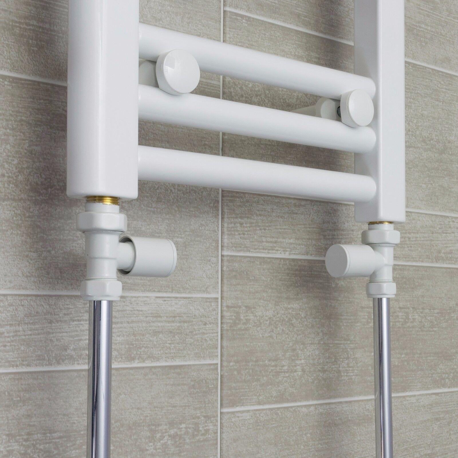 ANTRACITE Diritta Valvole per binario calorifero radiatore minimalista COPPIA Round