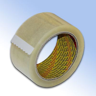 6 Rolls Clear 3M Scotch Parcel Packing Tape 48mm x 66m