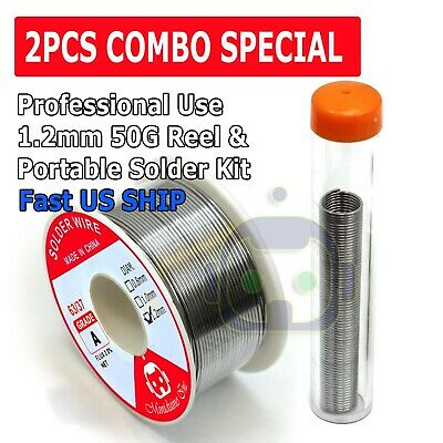 60-40 Tin Rosin Core Solder Wire Electrical Soldering Sn60 Flux 1.2mm 50g 16g