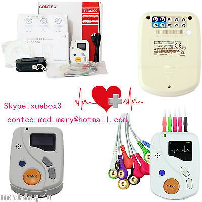 Contec Portable Dynamic Ecg Recorder 48h 12 Lead Holter Oledsoftwaretlc6000 Ce