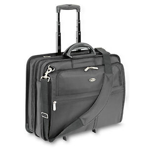 Rolling Laptop Notebook Computer Travel Bag Black Case Wheeled Luggage Business
