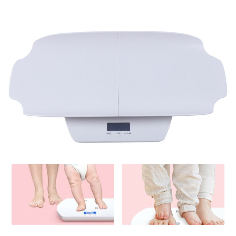 100Kg White Digital Baby Mother&Scale Infant Weight Scale Electronic Scale Set