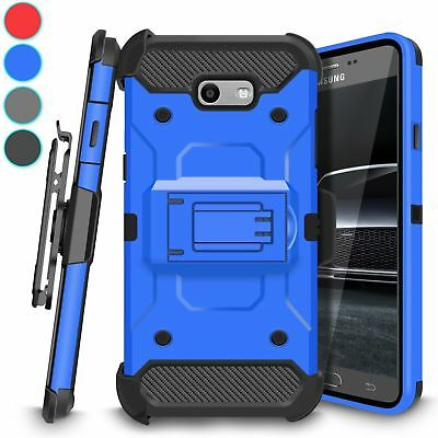 For Samsung Galaxy J7 2017 Phone Case Shockproof Belt Clip Hybrid Rugged Cover