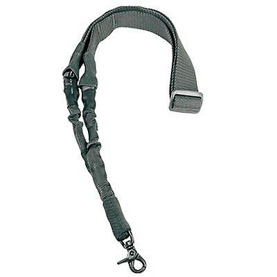 NcSTAR Heavy Duty Single Point Rifle Gun Bungee Sling Universal Strap Urban Gray