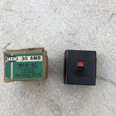 Vintage MEM Bakelite DP 30a Switch