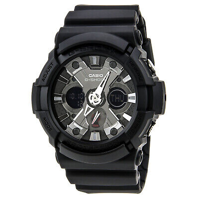 Casio GA201-1A Men's G-Shock Ana-Digi Dial Alarm World Timer Black Resin Watch
