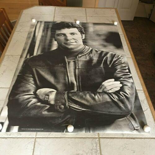 1969 Poster Tom Jones Sexy Black Leather Jacket 30X42 Vintage Original Singer