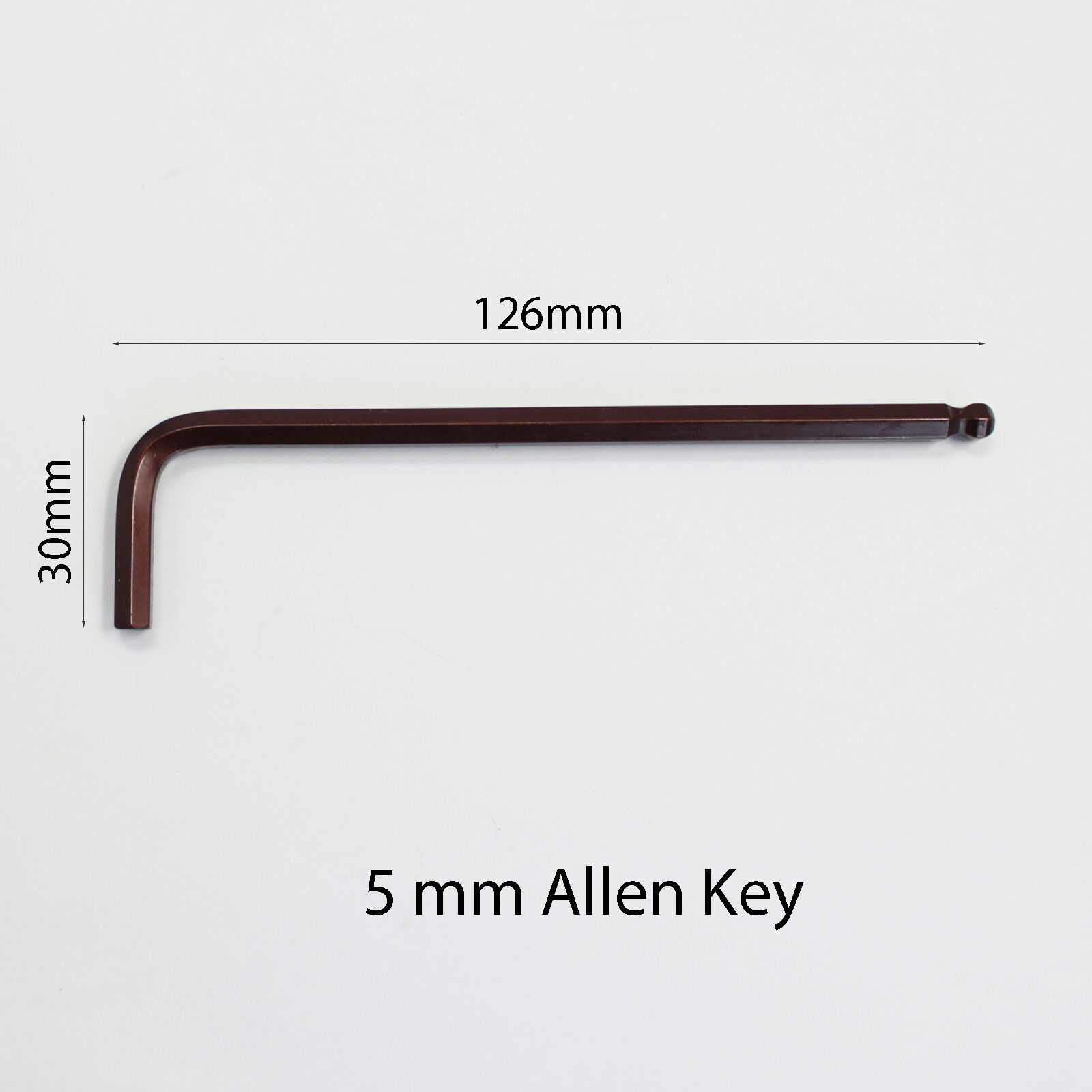 6mm QUALITY ALLEN BALL END LONG STEEL ARM HEX KEY KIT WRENCH METRIC 5mm 4mm