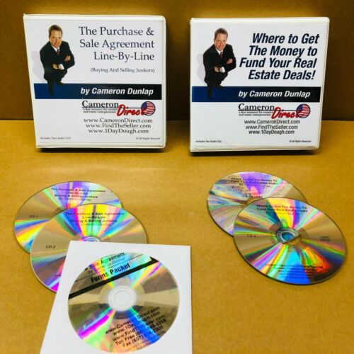 Cameron Dunlap Where to Get Money & Purchase Sale Agreement CD Set Real Estate