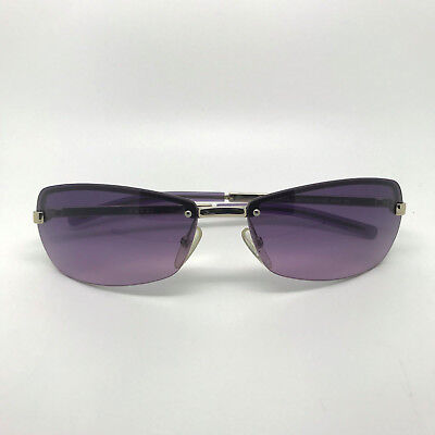 GUCCI Metal Frame Purple Hue Lens Sunglasses