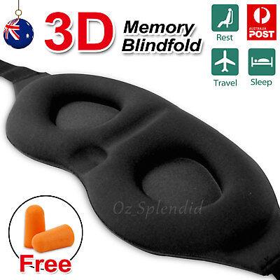 Travel Sleep Eye Mask soft 3D Memory Foam Padded Shade Cover Sleeping Blindfold
