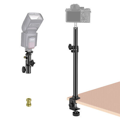 Neewer Tabletop Light Stand Clip Stand, 12.5-20.6 inch Adjustable Desk Mount
