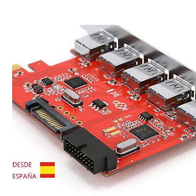 5 puertos PCI-E PCI Express a USB 3.0 HUB USB 2.0 USB1.1...