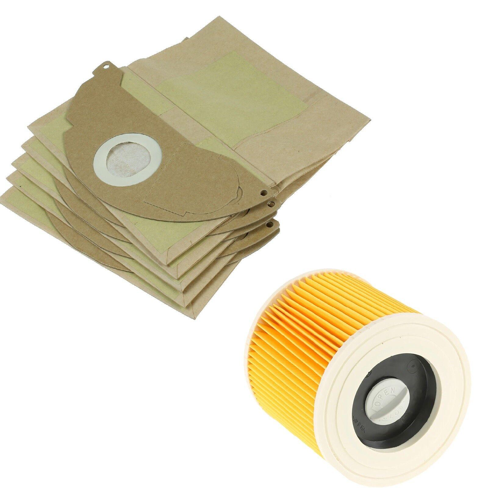 20 x Wet /& Dry Vacuum Dust Bags /& 2 Filters Fits Karcher IPX4