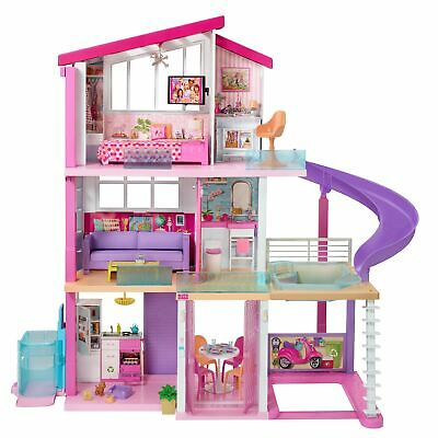 Barbie DreamHouse Dollhouse with Wheelchair Accessible Elevator, Pool and Slide,